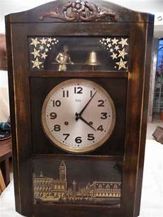 antique pendulum wall clock odo brand year