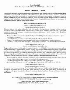 special education resume our 1 top pick for special