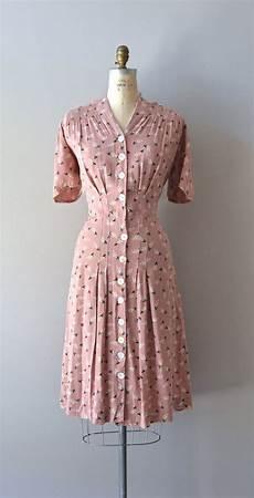 Vintage 1930s Dress Cotton 30s Dress Best Laid Plans