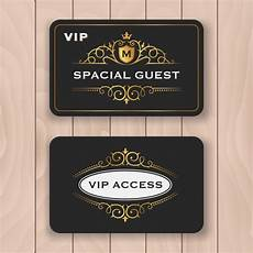 vip name card template golden business card design vector free