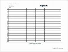 7 free sign in sheet templates word excel pdf formats