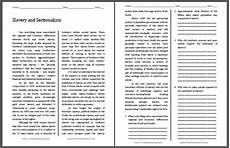 slavery and sectionalism reading with questions student handouts
