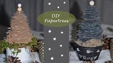 Weihnachtliche Tischdeko Quot Papertrees Quot Tannenb 228 Ume Aus