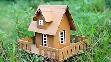 small cardboard house making youtube