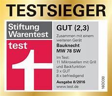 Stiftung Warentest Mikrowelle - bauknecht mikrowelle beste werte bei der stiwa