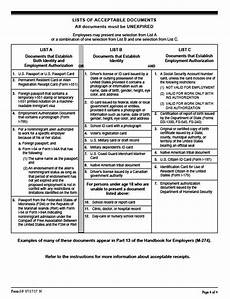 i9 lists of acceptable documents i9 staffing partners ohio