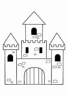 Ausmalbild Ritterburg Ritterburg Bastel Und Malvorlage Kostenlos Ausdrucken