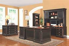 black home office furniture traditional black amber wood office desk co 721 desks