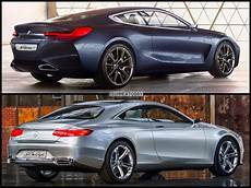 mercedes 8 coupe photo comparison bmw 8 series concept vs mercedes s