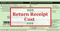 usps return receipt cost physical electronic