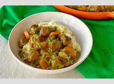 curried lamb sausages with potato pumpkin mash_image