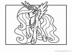 gambar princess celestia frame pony colouring page