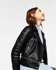 image 5 of leather effect jacket from zara leather
