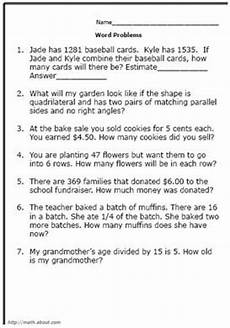 word problem worksheets 4th grade 10946 4th grade worksheet category page 3 worksheeto