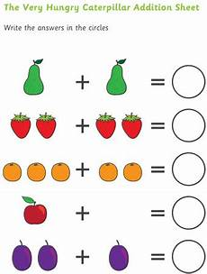 subtraction worksheets early years 10063 early learning resources the hungry caterpillar adding sheet teaching resources
