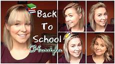 back to school quick easy hairstyles shoulder length hair youtube