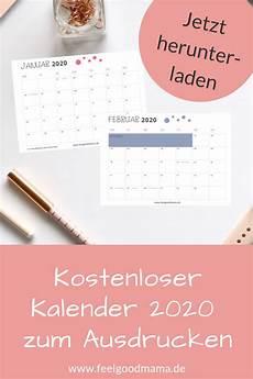 kalender 2020 zum ausdrucken kostenlos feelgoodmama