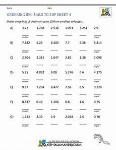 decimals rounding worksheet 7270 ordering decimals to 3dp