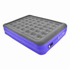 matelas pneumatique electrique lit gonflable matelas pneumatique 203 x 152 x 46 cm gris violet accessoires pompe