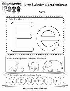 free printable letter e coloring worksheet for kindergarten