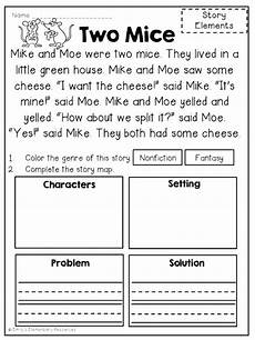 problem solution worksheet for third graders search third grade rdg problem free reading comprehension passages story elements by