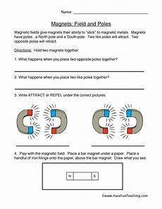 science worksheets magnets 12297 magnets worksheet fields and poles