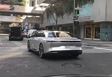 Lucid Motors Air Spotted Driving Through Downtown San