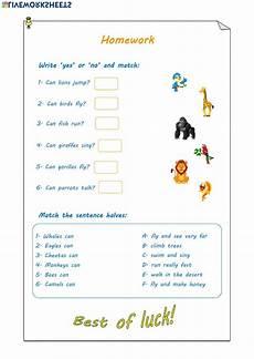 animals abilities worksheets 13782 animals abilities interactive worksheet