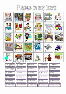 town worksheets 18489 in my town there is are esl worksheet by reb77