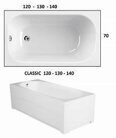 vasca da bagno 120 x 70 classic 120 130 140 x 70 vasca da bagno rettangolare