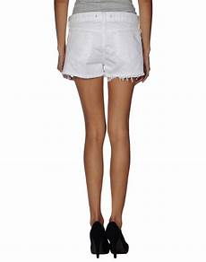 j brand white denim mini shorts lyst
