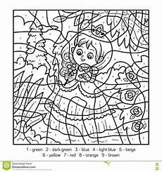 color by number princess coloring pages 18139 couleur par le nombre princesse illustration de vecteur illustration du couleur joie