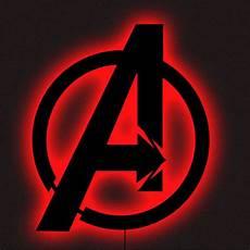 marvels avengers logo led wall art black multi color night light usa l decor notapplicable