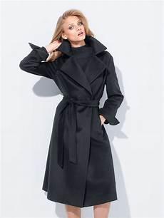 fadenmeister berlin mantel aus reinem kaschmir schwarz