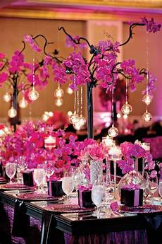 pink and black wedding full of luxury and lace in atlanta pretty things magenta wedding