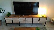 cr 233 ation et fabrication meuble tv m 233 tal bois ossature