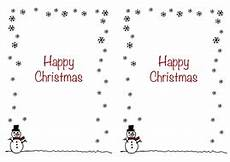 christmas card insert snowman design a5 2 up a page portrait design teaching resources