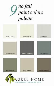 here it is a palette for no fail paint colors laurel home