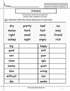 grammar worksheets on adjectives 24907 antonyms worksheet reading spelling writing worksheets grammar worksheets and