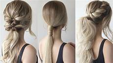 medium ponytail hairstyles how to easy ponytails prom hairstyles 2019