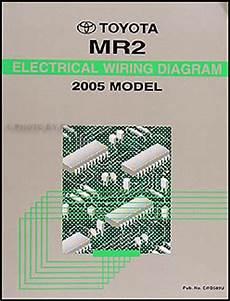 2005 toyota mr2 wiring diagram manual original