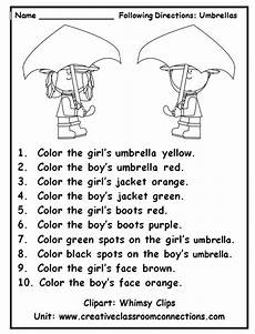 primary directions worksheets for grade 3 11693 listenandcolorumbrellas new american pathways new american pathways