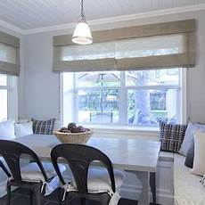 Beadboard Kitchen Banquette by Bubbles Glass Chandelier Contemporary Dining Room