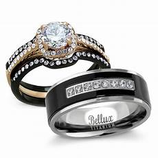 his and hers wedding ring sets s halo design cz