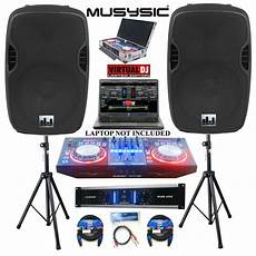 dj lighting equipment complete professional dj system 4500w dj midi controller cd usb 15 quot speakers ebay