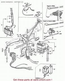 honda s90 wiring honda s90 sport general export wire harness battery i schematic partsfiche