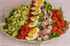 Salade Compl 232 Te Dinde Poitrine Oeufs Avocats Tomates