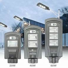 20w 40w 60w led solar powered wall street light pir motion outdoor garden l ebay