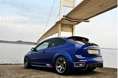ford focus st tuning ford focus st mk2 in blue color tuning big rims focus