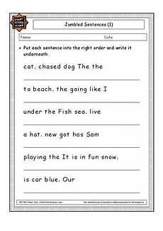 jumbled sentences worksheet for 1st 2nd grade lesson planet